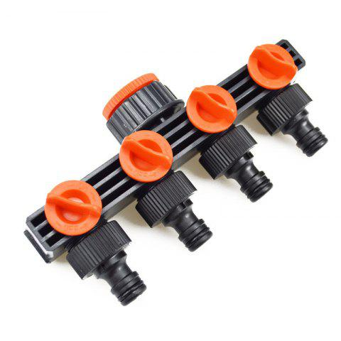 New Durable Garden Hose 4 Way Tap Splitters Quick Connectors Nozzles Spray Gun Joiners for Greenhouse