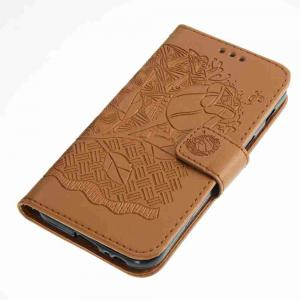 Double Embossed Rich Flowers PU TPU Phone Case for Samsung Galaxy A3 2017 -