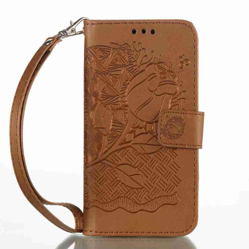 Buy Double Embossed Rich Flowers PU TPU Phone Case for Samsung Galaxy A3 2017