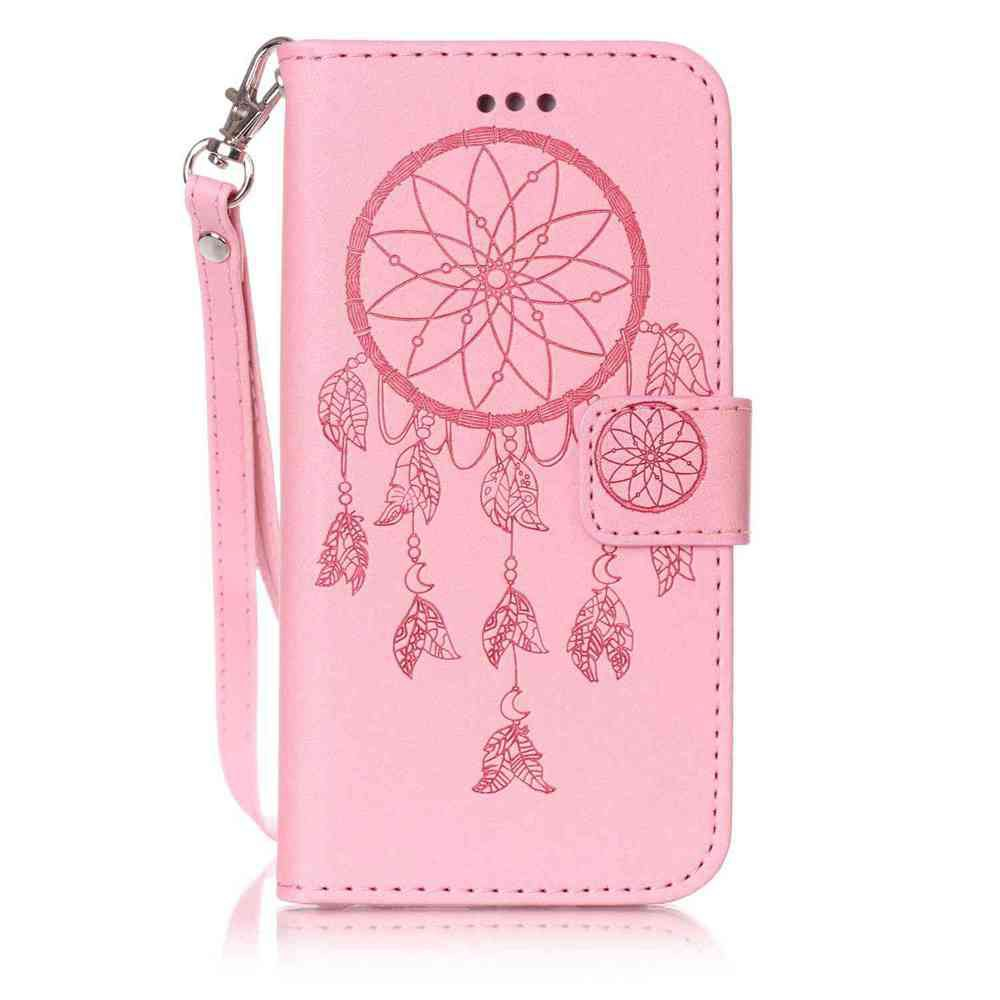 Trendy Double Embossed Dreamcatcher PU TPU Phone Case for iPhone 6  / 6S