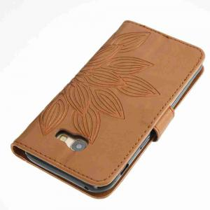 Double Embossed Half Flower PU TPU Phone Case for Samsung Galaxy A5 2017 -