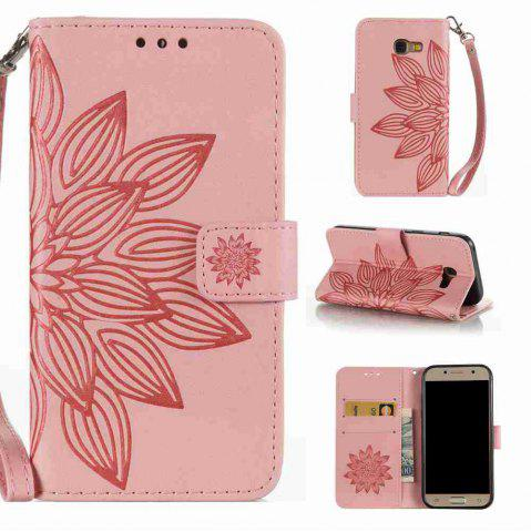 Buy Double Embossed Half Flower PU TPU Phone Case for Samsung Galaxy A5 2017