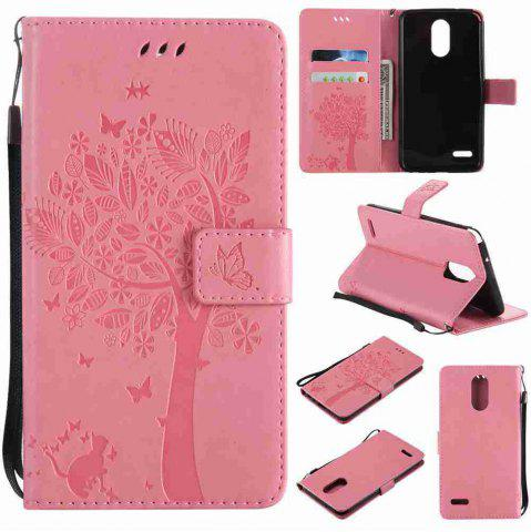 Online Double Embossed Sun Flower PU TPU Phone Case for  LG  Stylus3 Plus / Stylus3 / Style  Plus