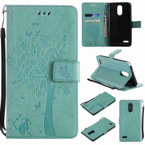 Cheap Double Embossed Sun Flower PU TPU Phone Case for  LG  Stylus3 Plus / Stylus3 / Style  Plus