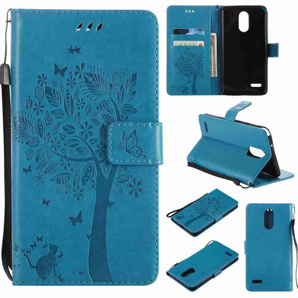 Outfit Double Embossed Sun Flower PU TPU Phone Case for  LG  Stylus3 Plus / Stylus3 / Style  Plus