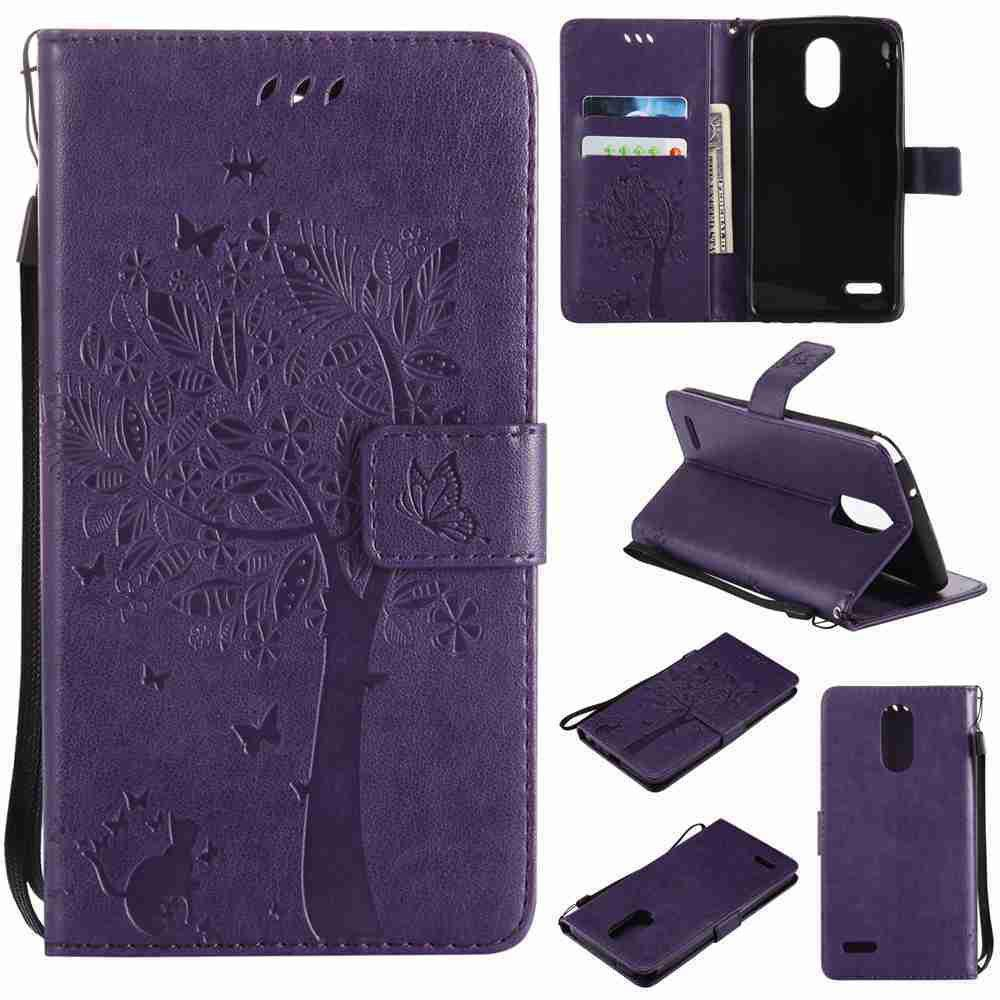 Store Double Embossed Sun Flower PU TPU Phone Case for  LG  Stylus3 Plus / Stylus3 / Style  Plus