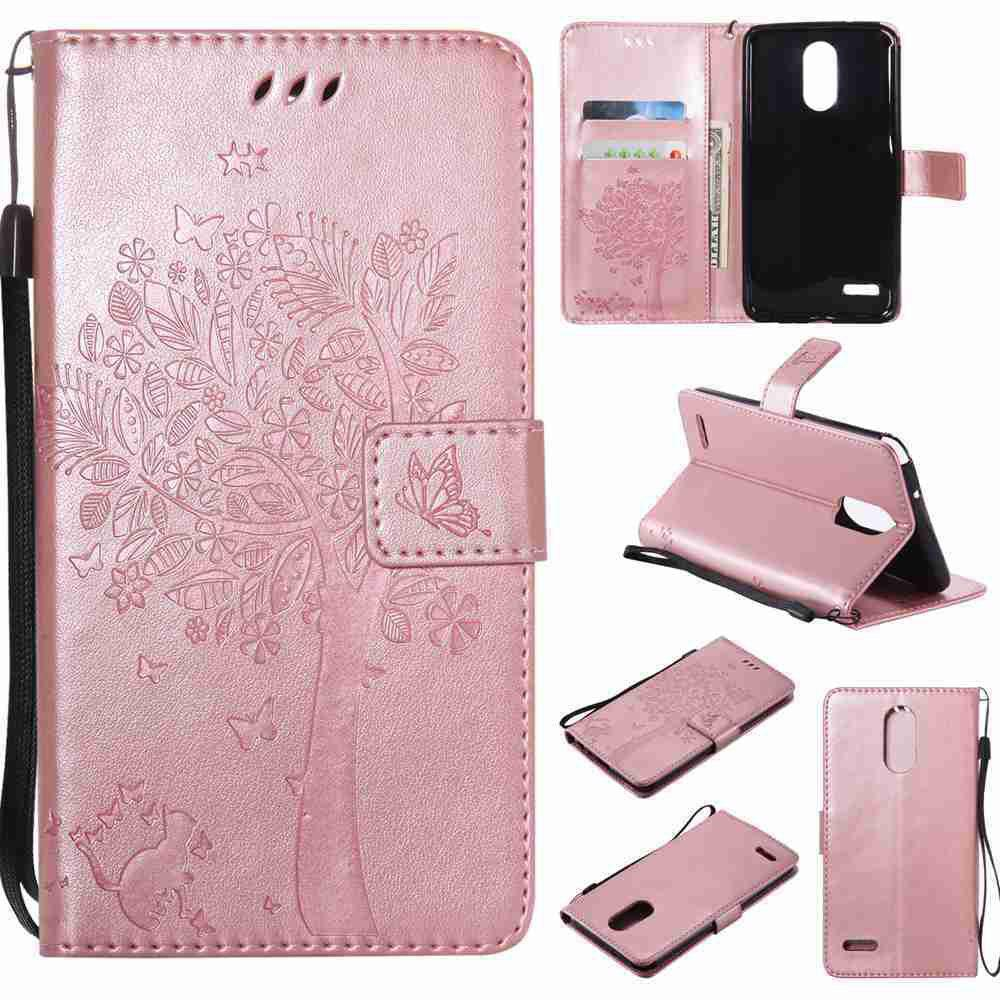 Latest Double Embossed Sun Flower PU TPU Phone Case for  LG  Stylus3 Plus / Stylus3 / Style  Plus