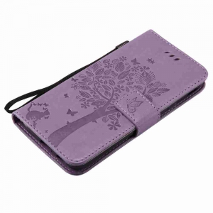 Double Embossed Sun Flower PU TPU Phone Case for  Samsung Galaxy  J330 -