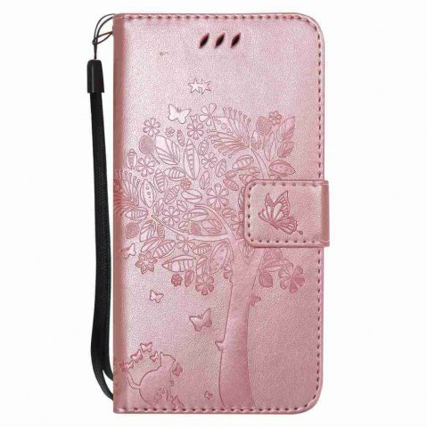 Hot Double Embossed Sun Flower PU TPU Phone Case for  Samsung Galaxy  J330