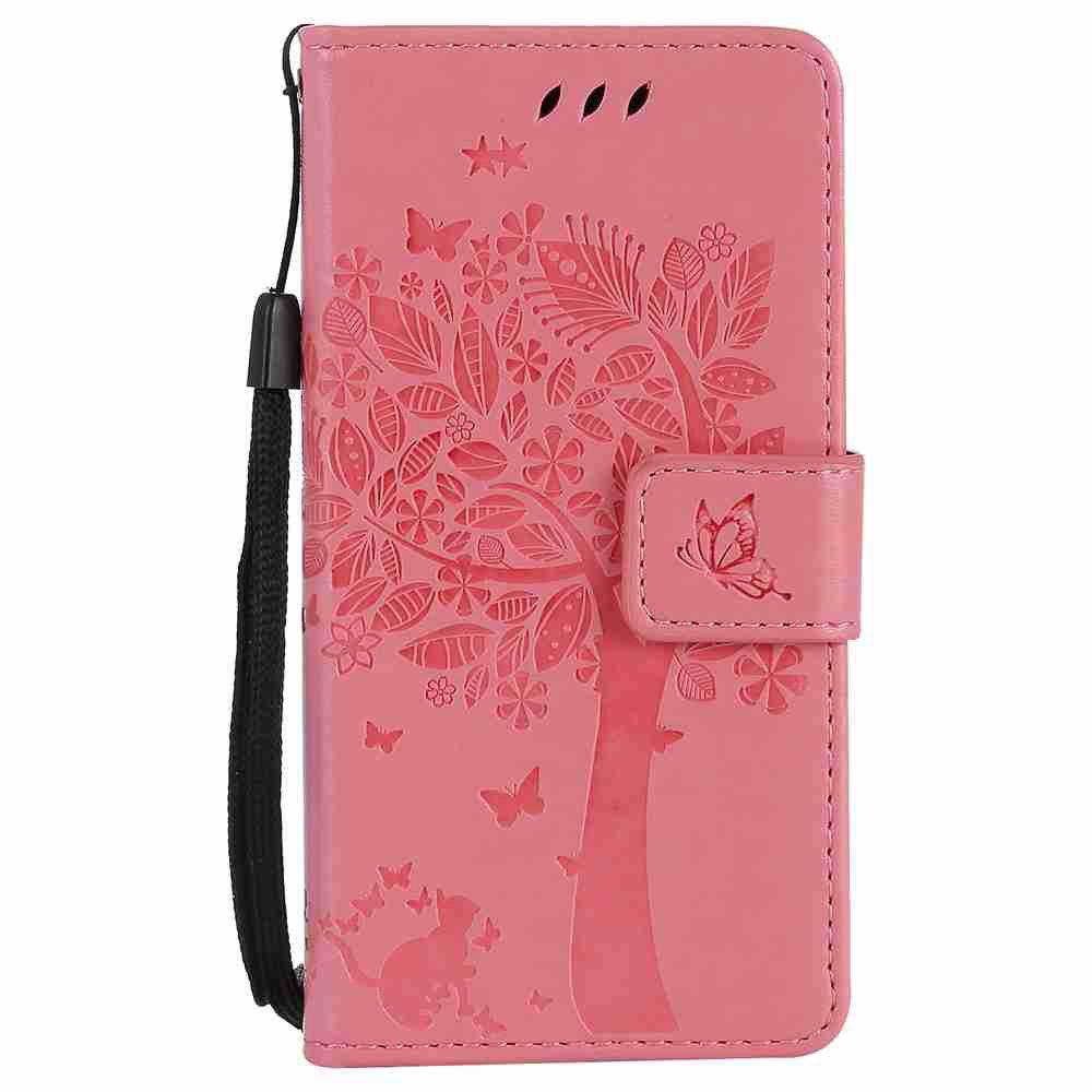 Latest Double Embossed Sun Flower PU TPU Phone Case for  Samsung Galaxy  A3 2017