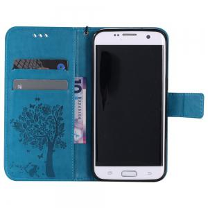 Double Embossed Sun Flower PU TPU Phone Case for  Samsung Galaxy S7 -
