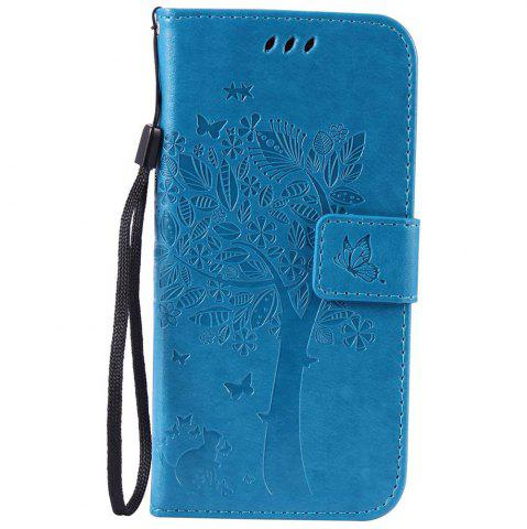 Best Double Embossed Sun Flower PU TPU Phone Case for  Samsung Galaxy S7