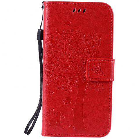 Chic Double Embossed Sun Flower PU TPU Phone Case for  Samsung Galaxy S7