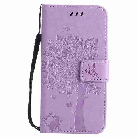 Outfits Double Embossed Sun Flower PU TPU Phone Case for  Samsung Galaxy S7