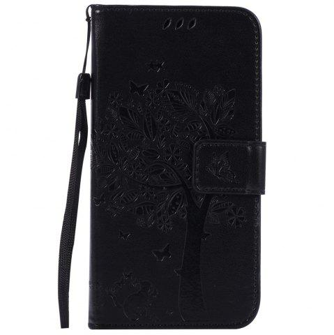 Chic Double Embossed Sun Flower PU TPU Phone Case for  Samsung Galaxy  J3 / 310
