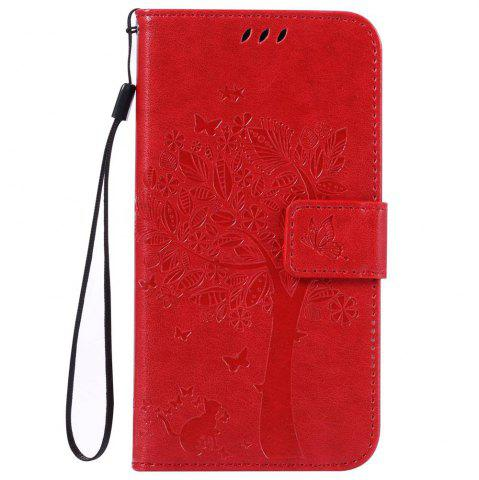 Hot Double Embossed Sun Flower PU TPU Phone Case for  Samsung Galaxy  J3 / 310