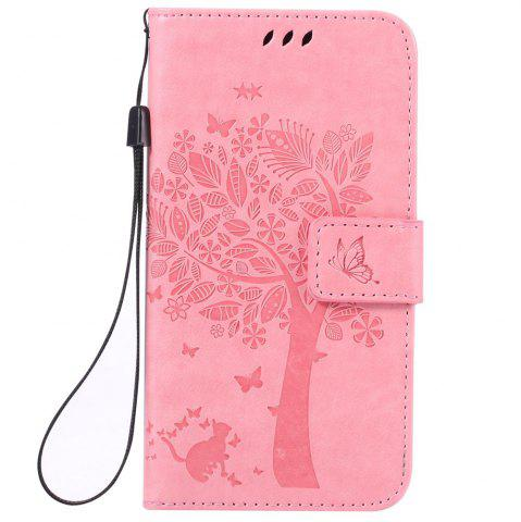 Outfits Double Embossed Sun Flower PU TPU Phone Case for  Samsung Galaxy  J3 / 310