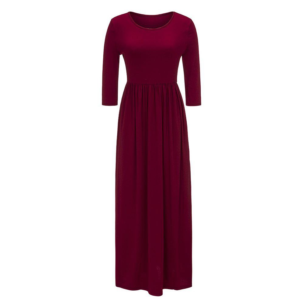 Outfits 2017 New Seven-Part  Long Sleeve Dress
