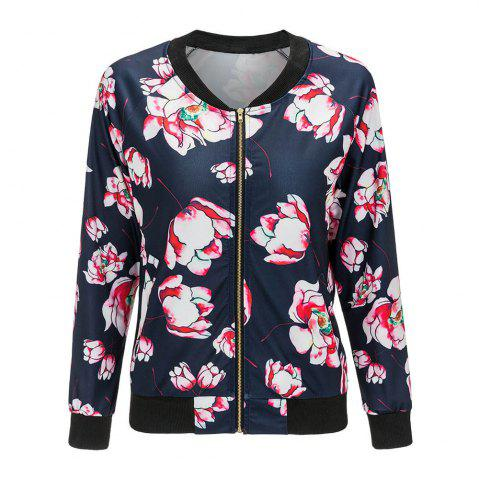 Hot 2017 New Long Sleeve Fashion Floral Jacket