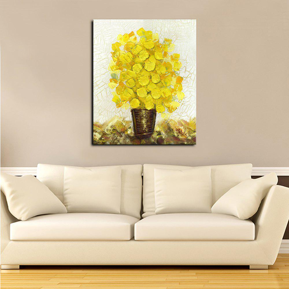 Yellow 50 X 60cm Yhhp Canvas Print Blue Flowers Wall Art For Home ...