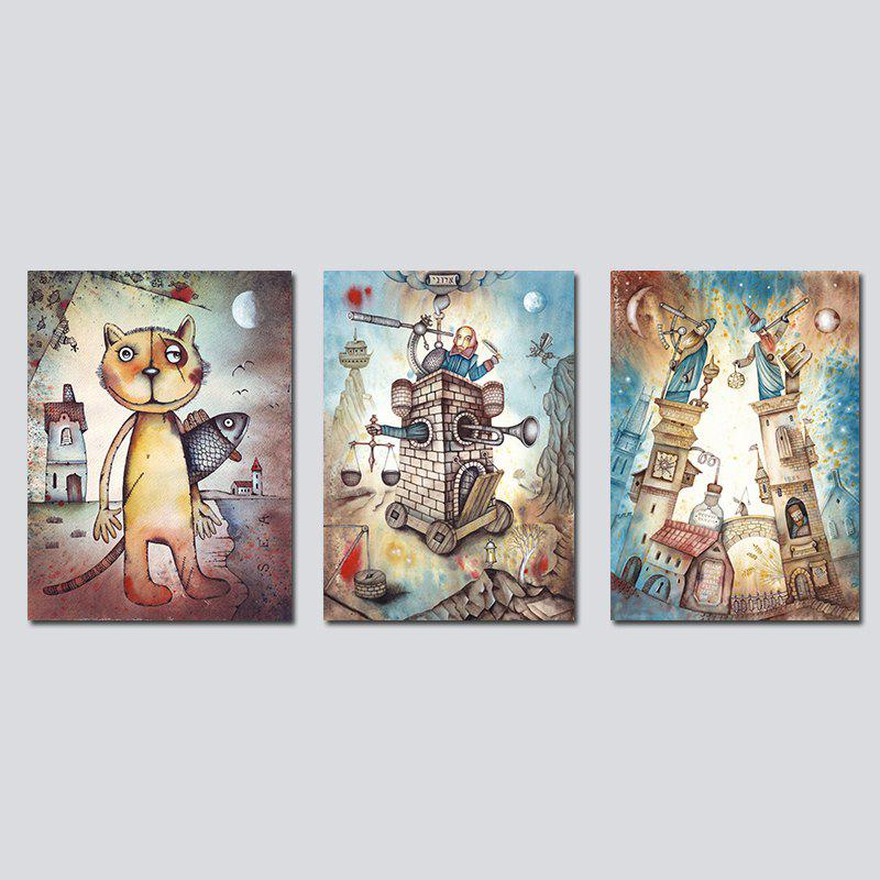 2018 Qiaojiaohuayuan No Frame Canvas Triptych Set Of Abstract Still ...