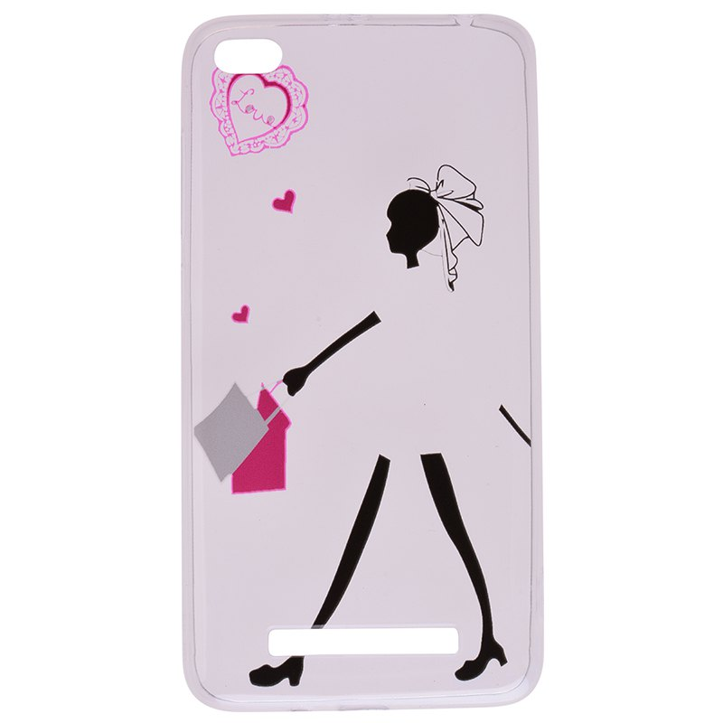 Affordable Young Girl Pattern Soft TPU Clear Case for Xiaomi Redmi 4A