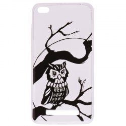 Owl Pattern Soft TPU Clear Case for Xiaomi Redmi 4A -