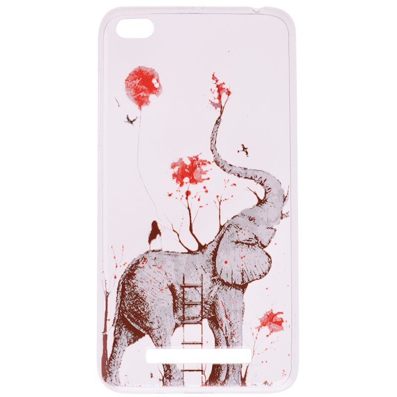 Online Elephant Pattern Soft TPU Clear Case for Xiaomi Redmi 4A