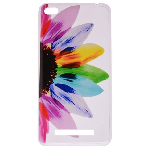 Outfit Sunflower Pattern Soft TPU Clear Case for Xiaomi Redmi 4A