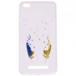 Feather Pineapple Pattern Soft TPU Clear Case for Xiaomi Redmi 4A -