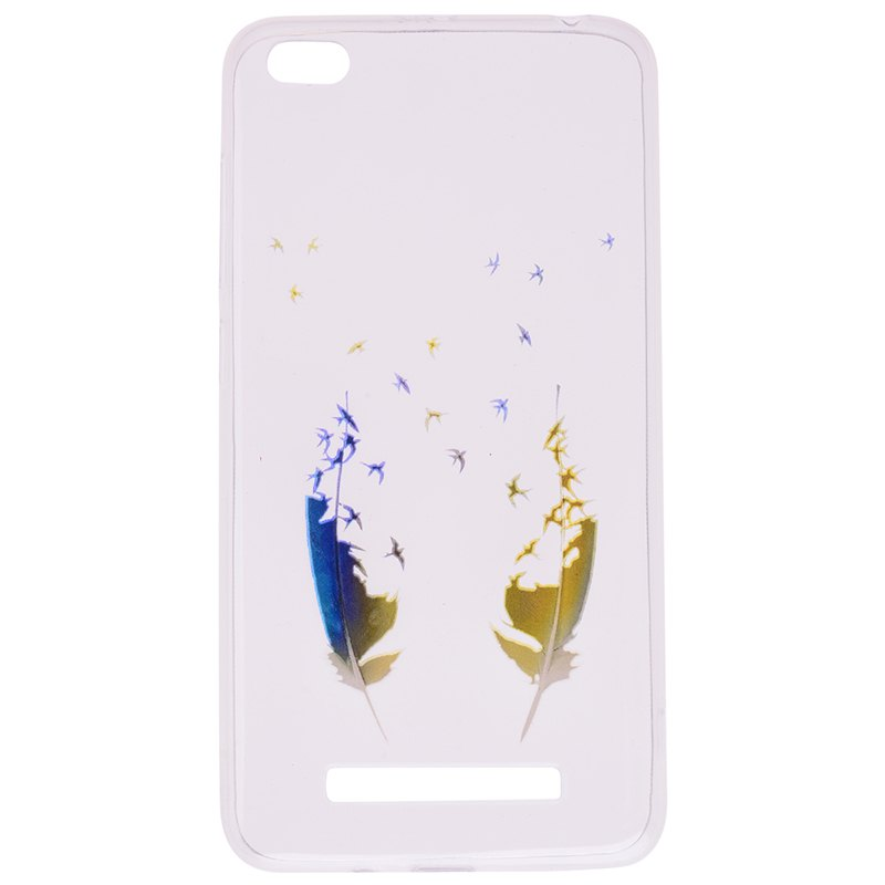 Shops Feather Pineapple Pattern Soft TPU Clear Case for Xiaomi Redmi 4A