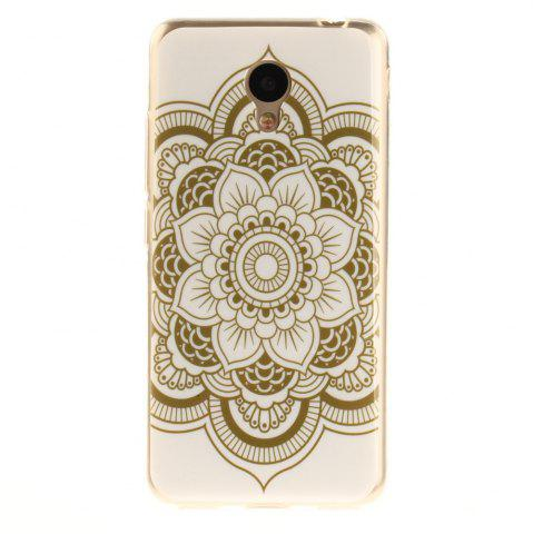 Unique Big Flower Soft Clear IMD TPU Phone Casing Mobile Smartphone Cover Shell Case for Meizu M5c / 5C / A5 Charm Blue A5
