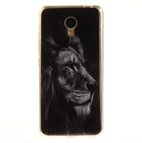 Trendy Black Lion Soft Clear IMD TPU Phone Casing Mobile Smartphone Cover Shell Case for Meizu M5c / 5C / A5 Charm Blue A5