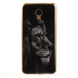 Black Lion Soft Clear IMD TPU Phone Casing Mobile Smartphone Cover Shell Case for Meizu M5c / 5C / A5 Charm Blue A5 -