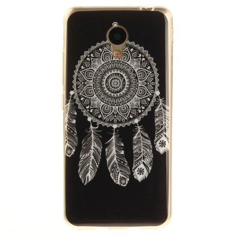 Outfit Dreamcatcher Soft Clear IMD TPU Phone Casing Mobile Smartphone Cover Shell Case for Meizu M5c / 5C / A5 Charm Blue A5