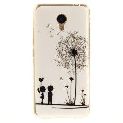 Dandelion Soft Clear IMD TPU Phone Casing Mobile Smartphone Cover Shell Case for Meizu M5c / 5C / A5 Charm Blue A5 -