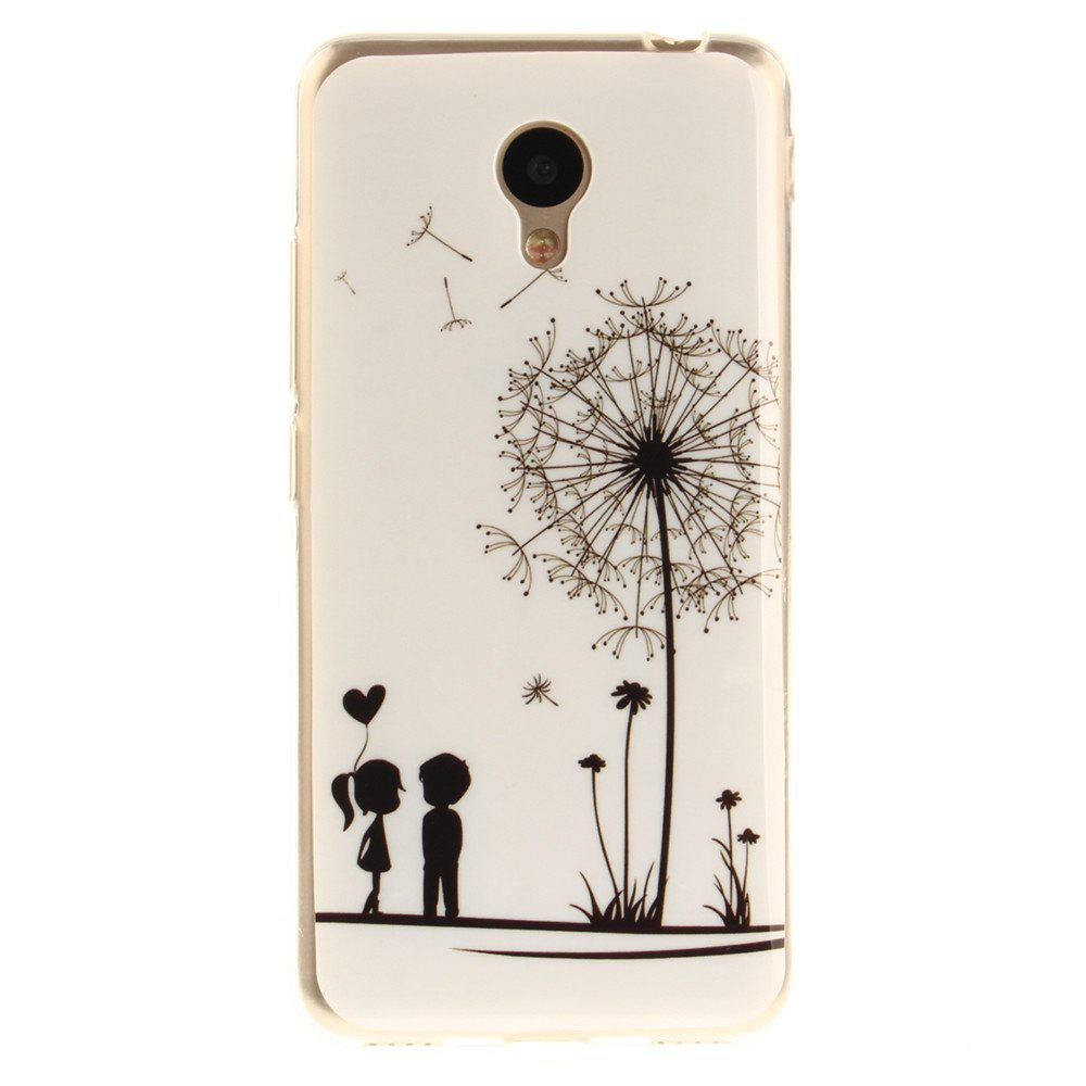 Best Dandelion Soft Clear IMD TPU Phone Casing Mobile Smartphone Cover Shell Case for Meizu M5c / 5C / A5 Charm Blue A5