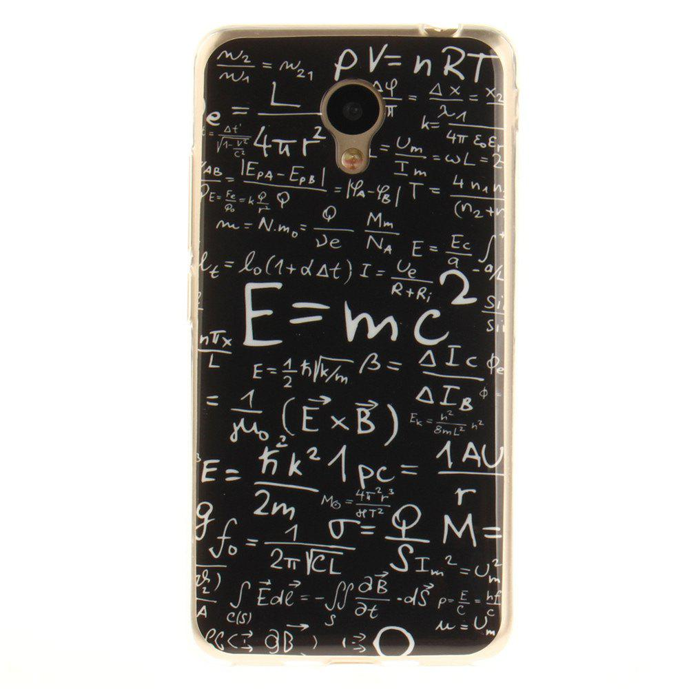 Chic Mathematical Formula Soft Clear IMD TPU Phone Casing Mobile Smartphone Cover Shell Case for Meizu M5c / 5C / A5