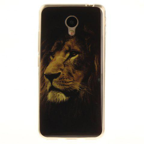Shop The Lion Pattern Soft Clear IMD TPU Phone Casing Mobile Smartphone Cover Shell Case for Meizu M5c / 5C / A5