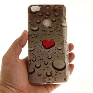 Heart Line of Water Droplets Soft Clear IMD TPU Phone Casing Mobile Smartphone Cover Shell Case for Xiaomi Redmi Note 5A -