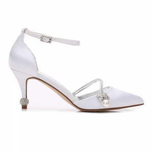 Women's Wedding Shoes Comfort  Basic Pump Ankle Strap Spring -