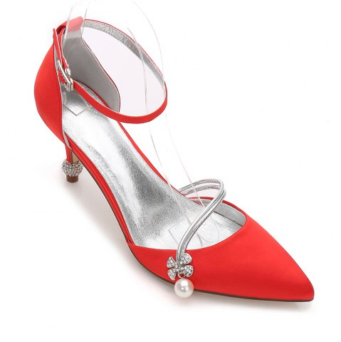 Discount Women's Wedding Shoes Comfort  Basic Pump Ankle Strap Spring