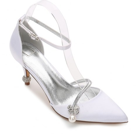 New Women's Wedding Shoes Comfort  Basic Pump Ankle Strap Spring