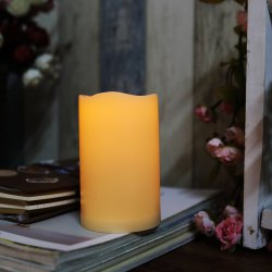 Outdoor Flameless Candle with Timer Plastic Realistic Flickering Battery Operated -