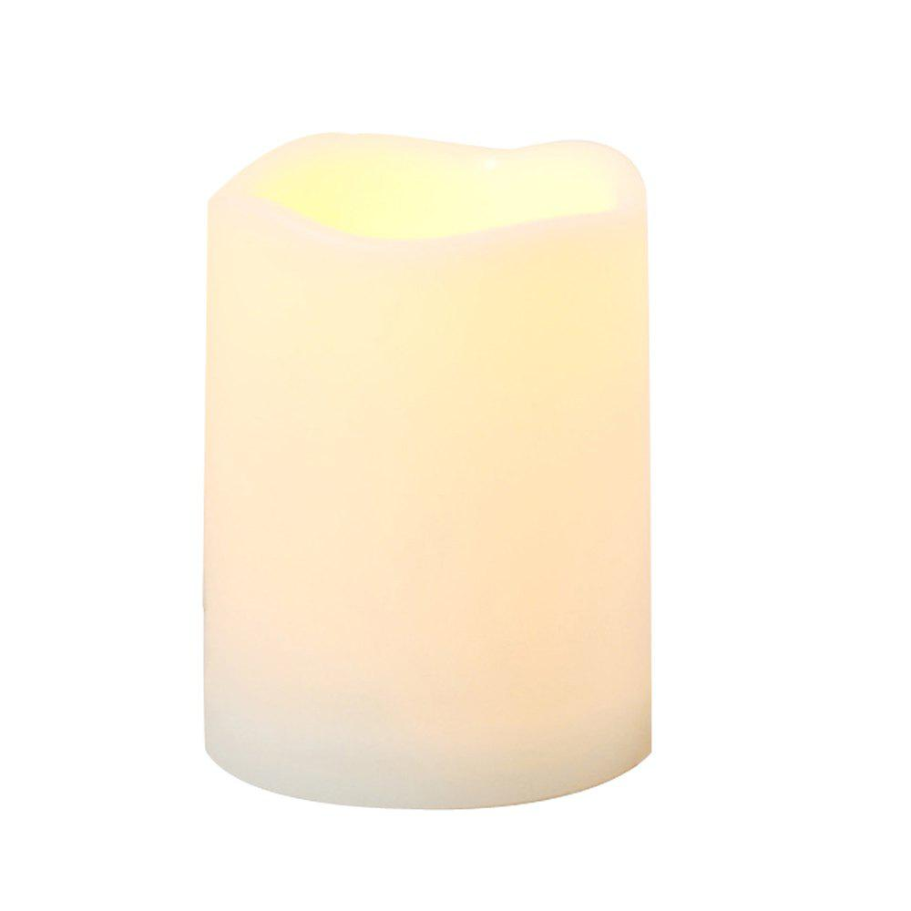 Chic Outdoor Flameless Candle with Timer Plastic Realistic Flickering