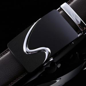 Men's Leather Belt Reversible Rotated Simple Automatic Buckle -