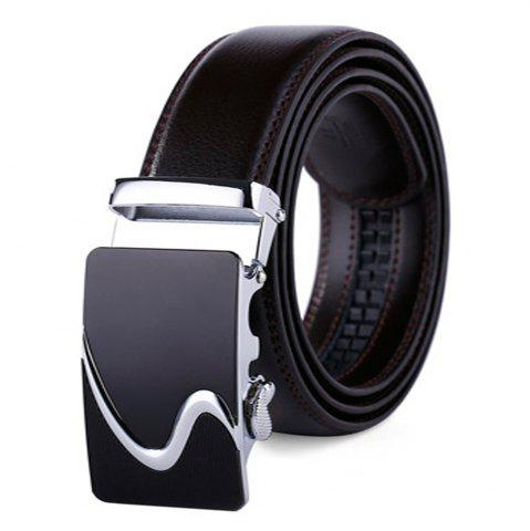 Trendy Men's Leather Belt Reversible Rotated Simple Automatic Buckle