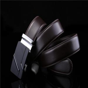 Simple Genuine Leather Belt for Men with Automatic Buckle -