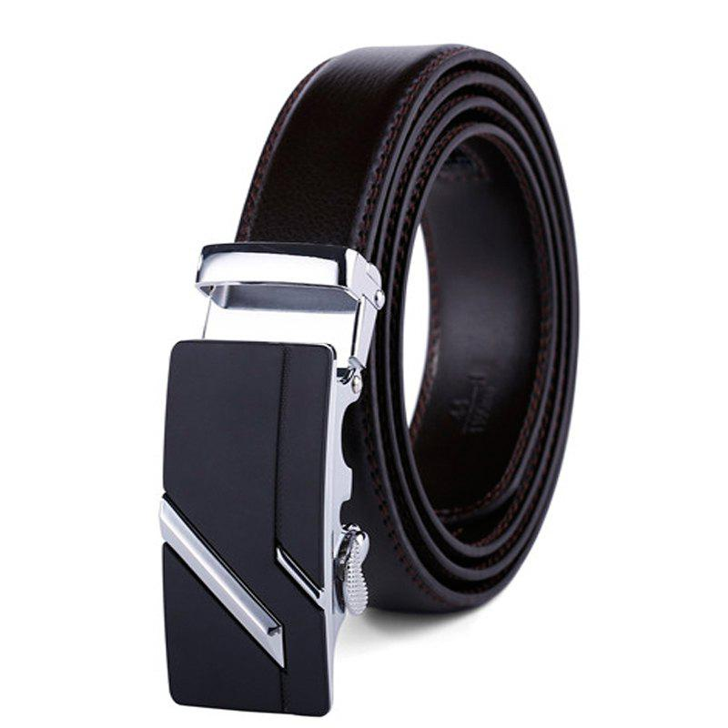 Fashion Simple Genuine Leather Belt for Men with Automatic Buckle