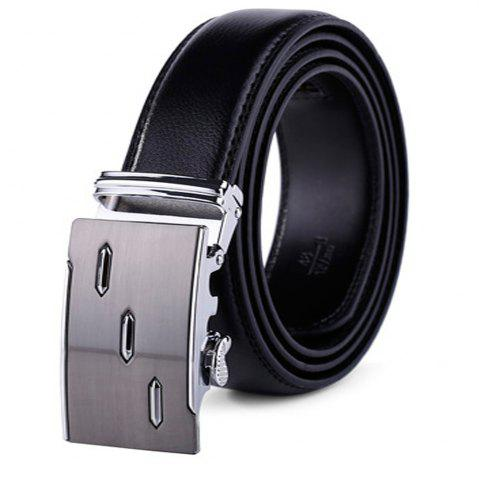 Unique Men's Leather Ratchet Belt Automatic Sliding Buckle Designer